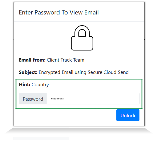 Secure Email - Password