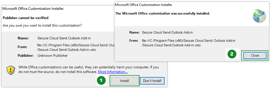Add-In Install